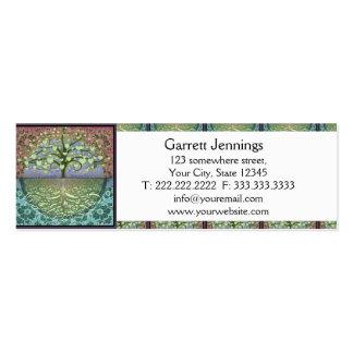 Árbol de los corazones y del amor de la vida tarjetas de visita mini