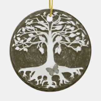 Árbol de los nuevos principios de la vida de Ameli Ornamento De Navidad