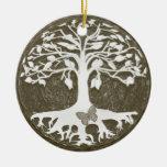 Árbol de los nuevos principios de la vida de ornamento de navidad