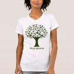 Árbol de los placeres simples camisetas