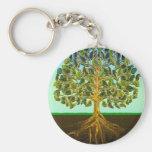 Árbol de los placeres simples de la vida de la vid llavero personalizado