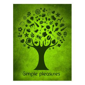 Árbol de los placeres simples tarjetas postales