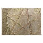 Árbol de madera del Pentagram Manteles Individuales