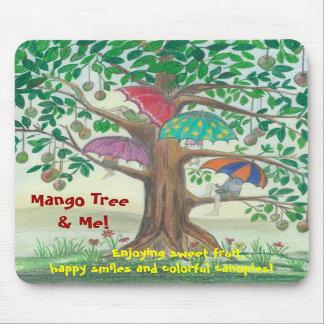 ¡Árbol de mango y yo! Cojín de ratón Alfombrilla De Raton