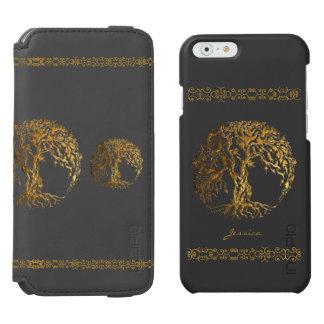 Árbol de Mehndi de la vida (alheña) Funda Billetera Para iPhone 6 Watson
