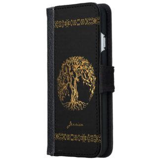 Árbol de Mehndi de la vida (alheña) Funda Cartera Para iPhone 6