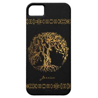 Árbol de Mehndi de la vida (alheña) Funda Para iPhone SE/5/5s
