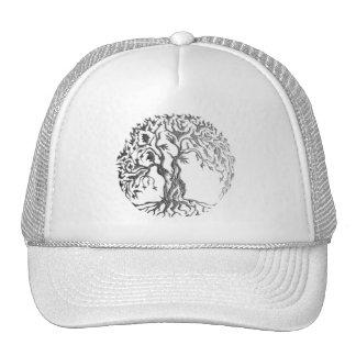 Árbol de Mehndi de la vida (alheña) (plata) Gorro De Camionero