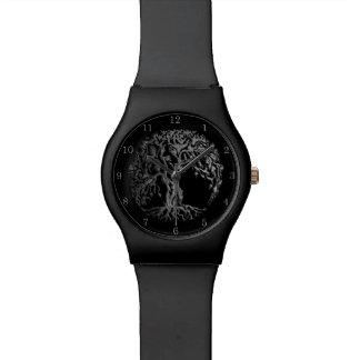 Árbol de Mehndi de la vida (alheña) (plata) Relojes