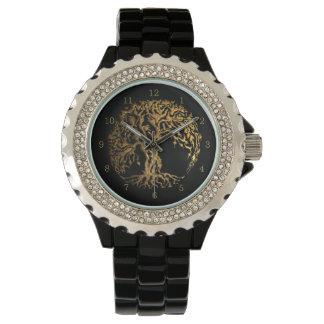 Árbol de Mehndi de la vida (alheña) Relojes De Mano