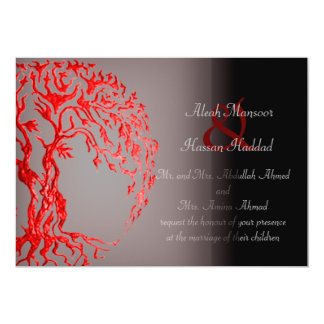 Árbol de Mehndi de la vida (alheña) (rojo) Anuncio Personalizado