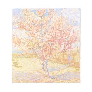 Árbol de melocotón de Vincent van Gogh en arte del Blocs De Notas