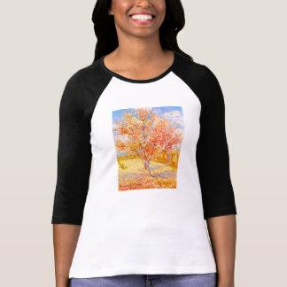 Árbol de melocotón de Vincent van Gogh en arte del Camisetas