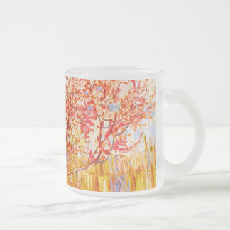 Árbol de melocotón de Vincent van Gogh en arte del Taza Cristal Mate