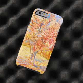 Árbol de melocotón de Vincent van Gogh en vintage Funda Para iPhone 6 Tough
