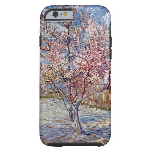 Árbol de melocotón en flor de Vincent van Gogh Funda De iPhone 6 Tough