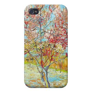 Árbol de melocotón en la floración en Arles, Van G iPhone 4 Fundas