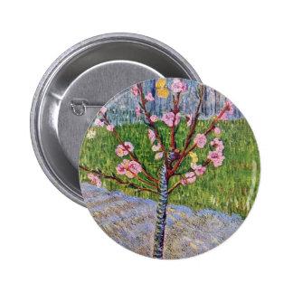 Árbol de melocotón floreciente de Vincent van Gogh Pin