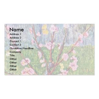 Árbol de melocotón floreciente de Vincent van Gogh Plantilla De Tarjeta De Visita