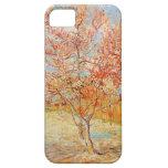 Árbol de melocotón rosado de Van Gogh en caso del  iPhone 5 Coberturas