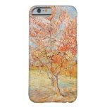 Árbol de melocotón rosado de Van Gogh en caso del Funda De iPhone 6 Barely There