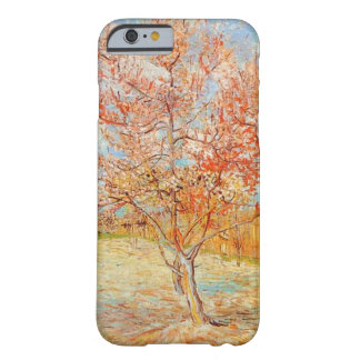 Árbol de melocotón rosado de Van Gogh en caso del Funda Para iPhone 6 Barely There