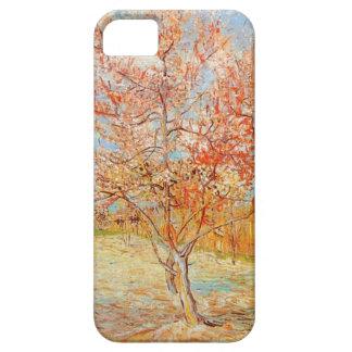Árbol de melocotón rosado de Van Gogh en caso del iPhone 5 Funda