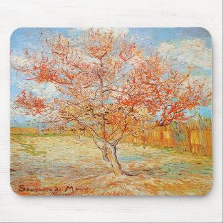 Árbol de melocotón rosado de Van Gogh en cojín de  Tapetes De Raton