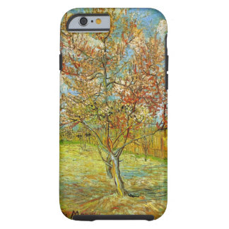 Árbol de melocotón rosado de Van Gogh en el flor, Funda De iPhone 6 Tough