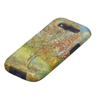 Árbol de melocotón rosado de Van Gogh en el flor, Galaxy S3 Fundas