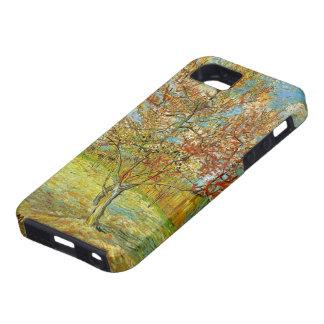 Árbol de melocotón rosado de Van Gogh en el flor iPhone 5 Case-Mate Protectores