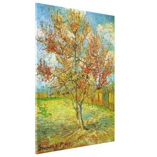 Árbol de melocotón rosado de Van Gogh en el flor Impresiones En Lienzo Estiradas