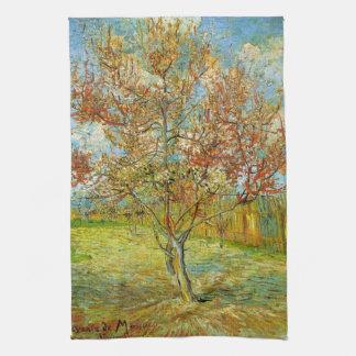 Árbol de melocotón rosado de Van Gogh en el flor Toallas