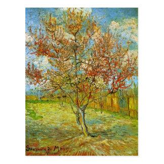 Árbol de melocotón rosado de Van Gogh en el flor, Postal