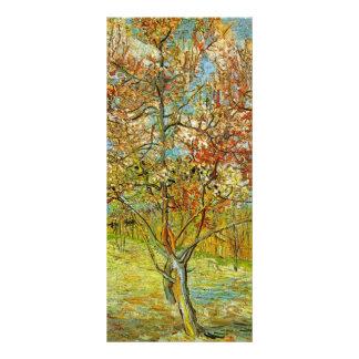 Árbol de melocotón rosado de Van Gogh en el flor Lonas Personalizadas