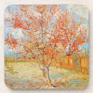 Árbol de melocotón rosado de Van Gogh en prácticos Posavasos De Bebida