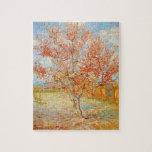 Árbol de melocotón rosado de Van Gogh en rompecabe Rompecabeza