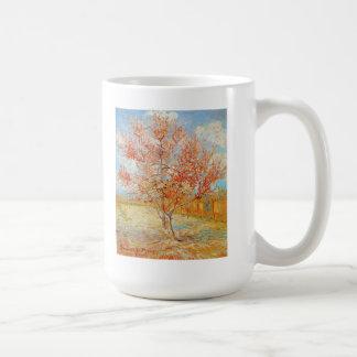 Árbol de melocotón rosado de Van Gogh en taza del