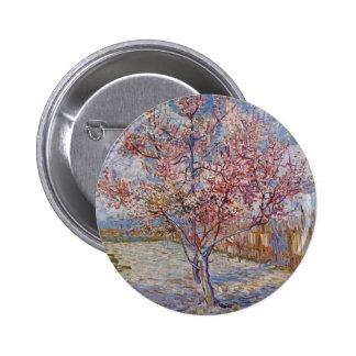 Árbol de melocotón rosado en el flor reminiscenci pin