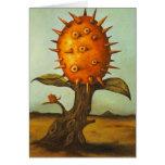 Árbol de melón surrealista felicitación