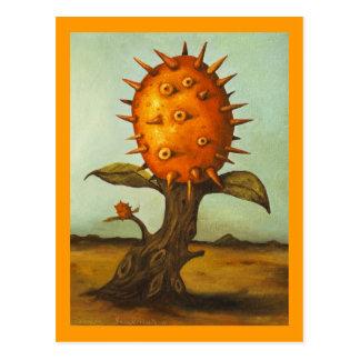 Árbol de melón surrealista postal