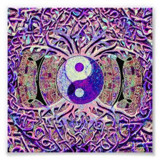 Árbol de mirada impresionante de Yin Yang Fotografía
