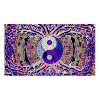 Árbol de mirada impresionante de Yin Yang Tarjetas De Visita