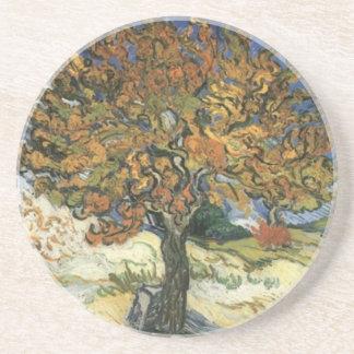 Árbol de mora de Van Gogh Posavasos Personalizados