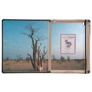 Árbol de Moringo del africano en el llano, iPad Protectores