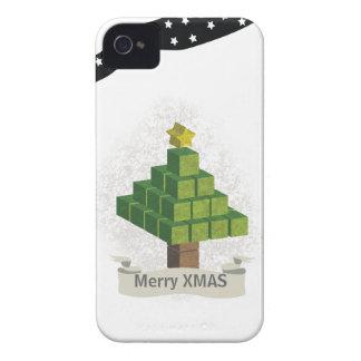 árbol de Navidad 3D Funda Para iPhone 4