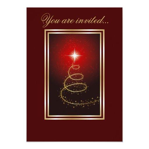 Árbol de navidad abstracto que brilla intensamente comunicados personalizados