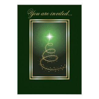 Árbol de navidad abstracto que brilla intensamente comunicados