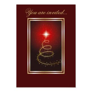 """Árbol de navidad abstracto que brilla intensamente invitación 5"""" x 7"""""""