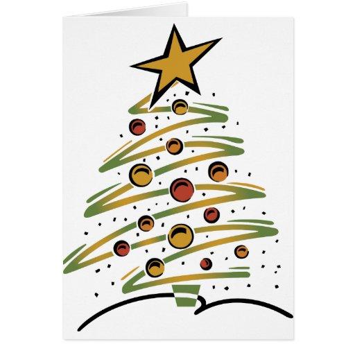 Árbol de navidad abstracto tarjeta de felicitación
